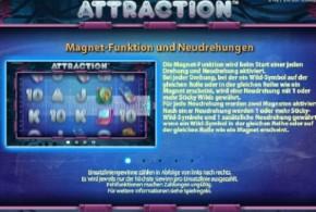 Magnetfunktion in neuem Online Spielautomaten Attraction