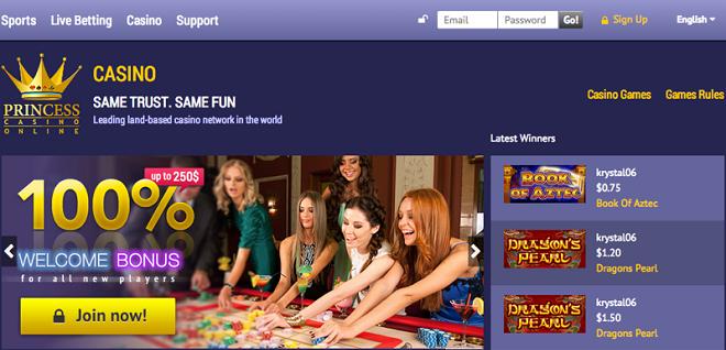 Großzügiger Willkommensbonus im Princess Star Online Casino