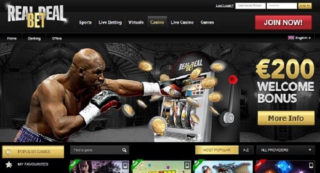 Fantastischer Willkommensgruß im Real Deal Bet Online Casino