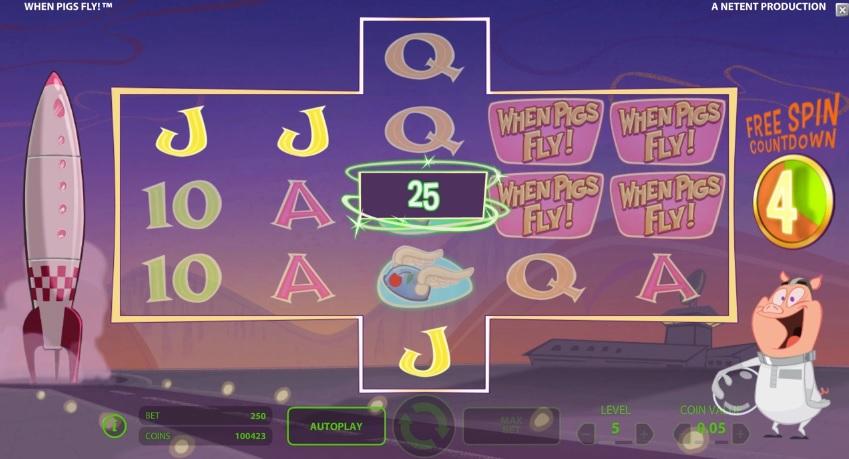 Schweine fliegen im neuen Online NetEnt-Spielautomaten