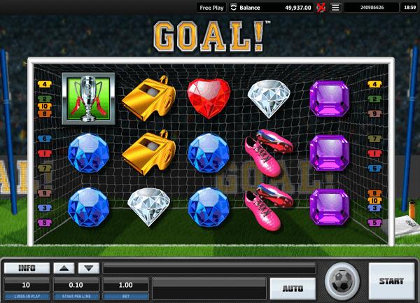 GOAL - ein neuer Online Spielautomat für Fußballfans