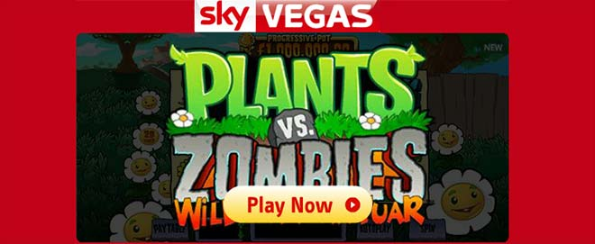 Plants vs Zombies im Sky Vegas Online Casino