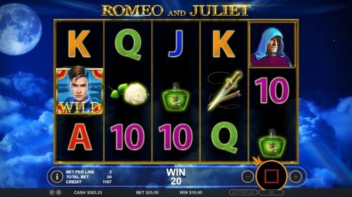 Mit Romeo und Julia im Online Casino